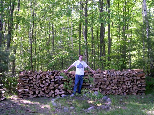 jason and a lot of wood